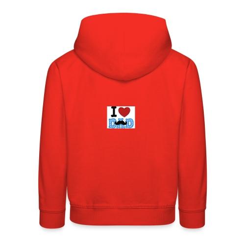 i love dad - Felpa con cappuccio Premium per bambini