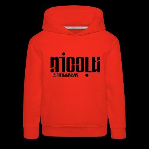 Ambigramm Nicole 01 Pit Hammann - Kinder Premium Hoodie