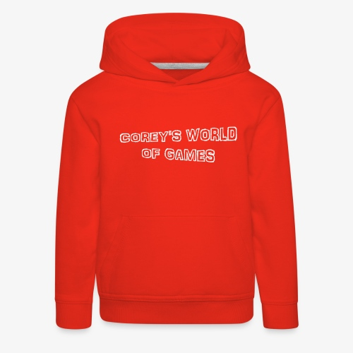 Coreys World Of Games - Kids' Premium Hoodie