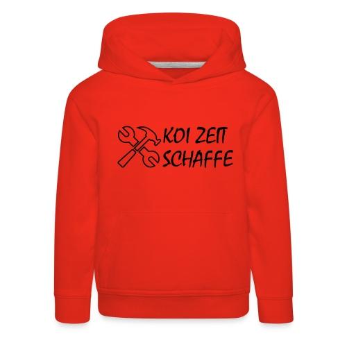 KoiZeit - Schaffe - Kinder Premium Hoodie