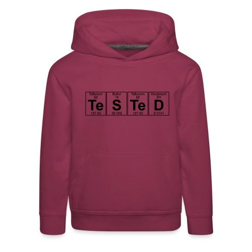 Te-S-Te-D (tested) (small) - Kids' Premium Hoodie