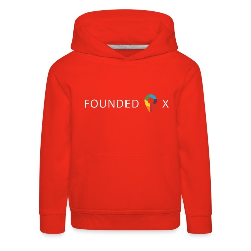 FoundedX logo white png - Kids' Premium Hoodie