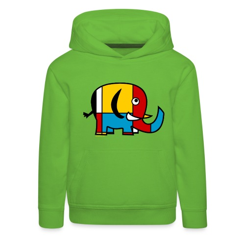 Mondrian Elephant - Kids' Premium Hoodie