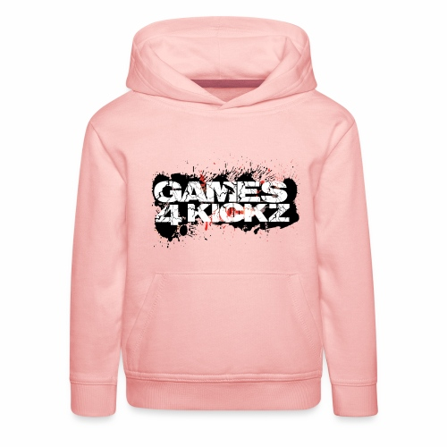 Games4Kickz Logo Splattered Background - Kids' Premium Hoodie