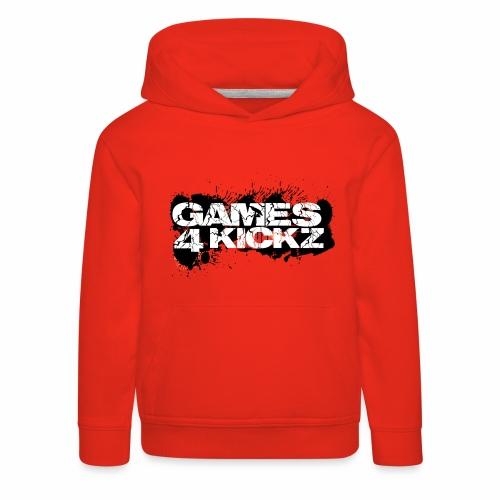 Games4Kickz Logo Splattered Background - Kids' Premium Hoodie