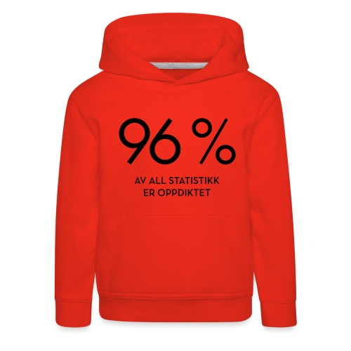 Statistikk-sprøyt (fra Det norske plagg) - Premium Barne-hettegenser