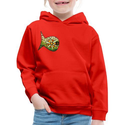 Blüten Fischdesign - Kinder Premium Hoodie