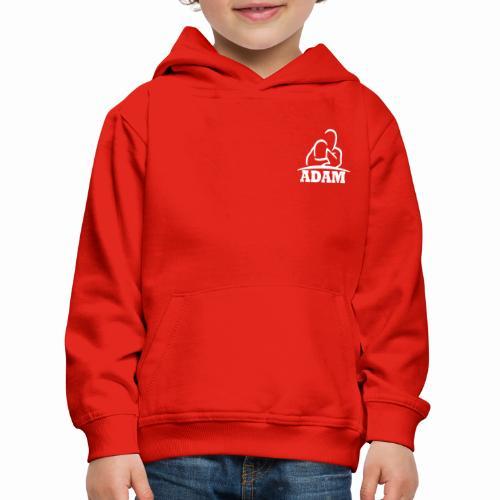 Logo Adam blanc - Pull à capuche Premium Enfant