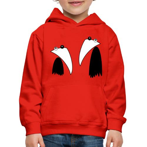 Raving Ravens - black and white 1 - Kinder Premium Hoodie