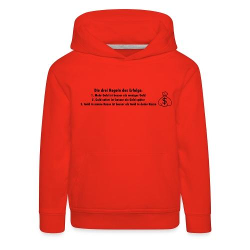 Geld scheffeln - Kinder Premium Hoodie