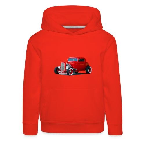 Hot rod red car - Kinderen trui Premium met capuchon