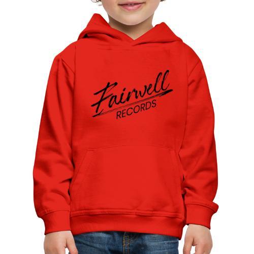 Fairwell Records - Black Collection - Premium hættetrøje til børn