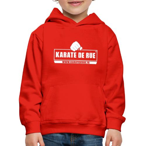 KARATE DE RUE - Pull à capuche Premium Enfant