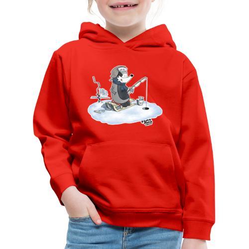 Ice Fishing Badger - Premium Barne-hettegenser