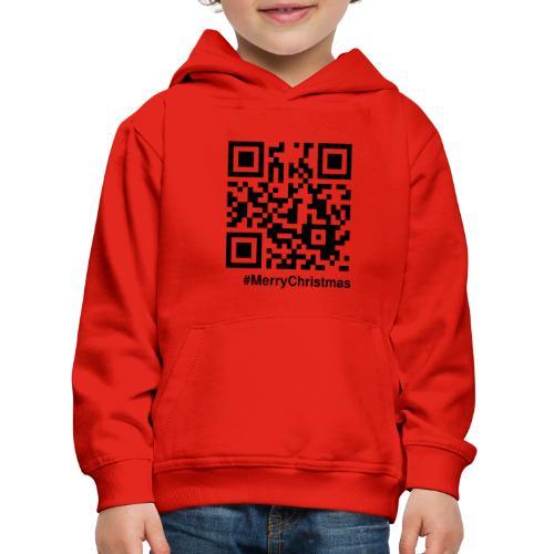Merry Christmas Santa Claus HoHoHo QR-code - Kids' Premium Hoodie