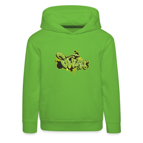 Mesk 2Wear graffiti style Green ver02 - Premium hættetrøje til børn
