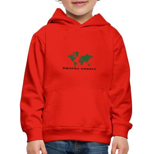 Travel Addict - Sudadera con capucha premium niño