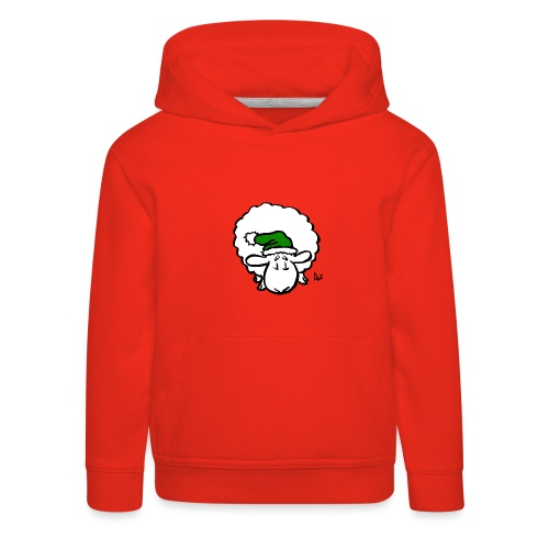 Santa Sheep (green) - Kids' Premium Hoodie