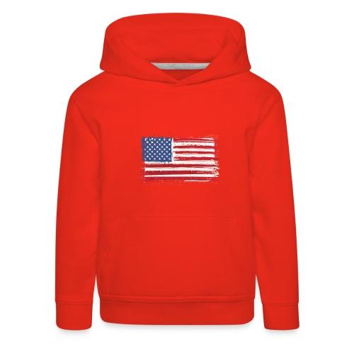 American flag - Kinderen trui Premium met capuchon