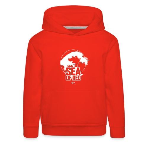 Sea of red logo - white - Kids' Premium Hoodie