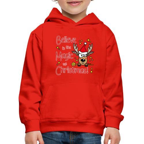 Renne, Magic of Christmas, Happy Christmas, Noël - Pull à capuche Premium Enfant