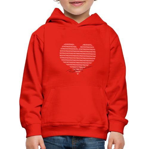 Das Herz am rechten Fleck - Kinder Premium Hoodie