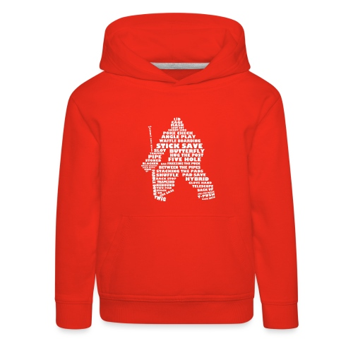 Hockey Goalie Typography Word Art - Kids' Premium Hoodie
