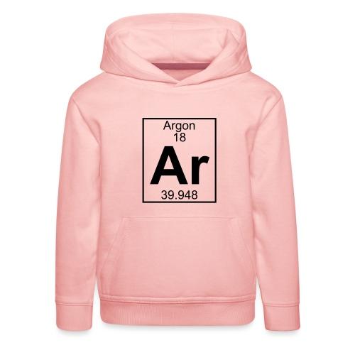 Argon (Ar) (element 18) - Kids' Premium Hoodie