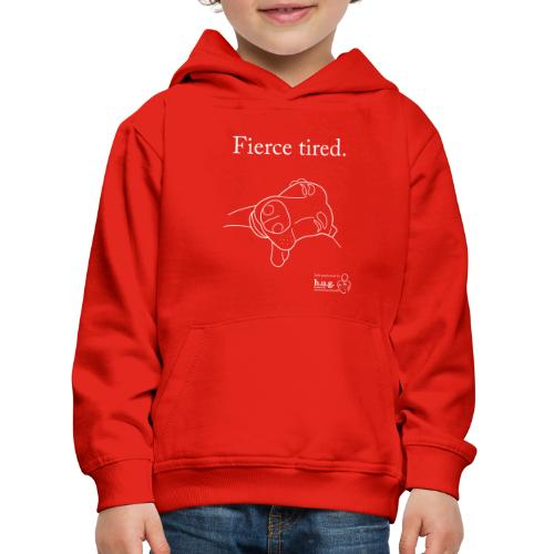 Fierce Tired Greyhound - Kids' Premium Hoodie