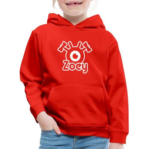 Zoey Label (White) - Pull à capuche Premium Enfant