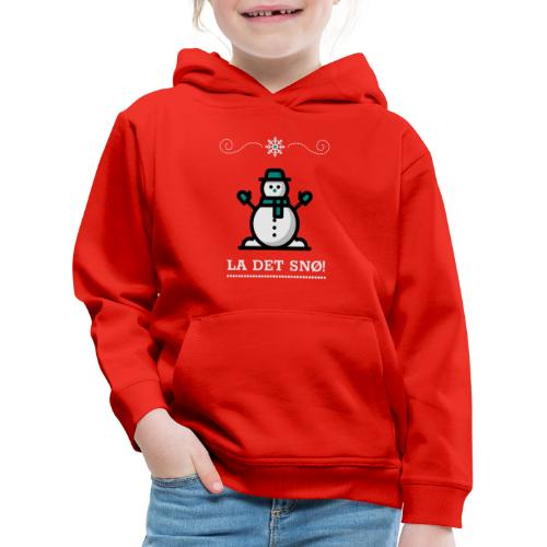 La det snø - Premium Barne-hettegenser