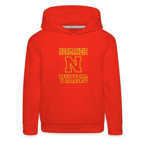 Normandie Viking Def jaune - Pull à capuche Premium Enfant