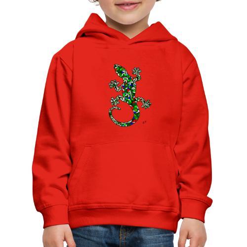 lucertola - Felpa con cappuccio Premium per bambini
