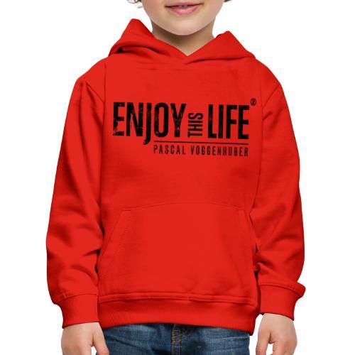 Enjoy this Life®-Classic Black Pascal Voggenhuber - Kinder Premium Hoodie