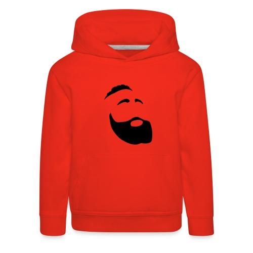 Il Barba, the Beard black - Felpa con cappuccio Premium per bambini