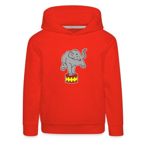 Zoo Zirkus Elefanten Circus Elephants Retro Comic - Kinder Premium Hoodie