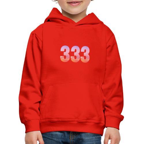 333 vous étes entouré de maitres ascensionnés - Pull à capuche Premium Enfant