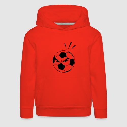 energischer Fußball - Kinder Premium Hoodie