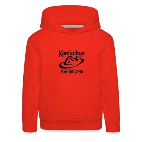 logo naam hoed amstelveen - Kinderen trui Premium met capuchon