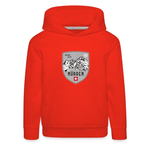 Murren Switzerland coat of arms - Kids' Premium Hoodie