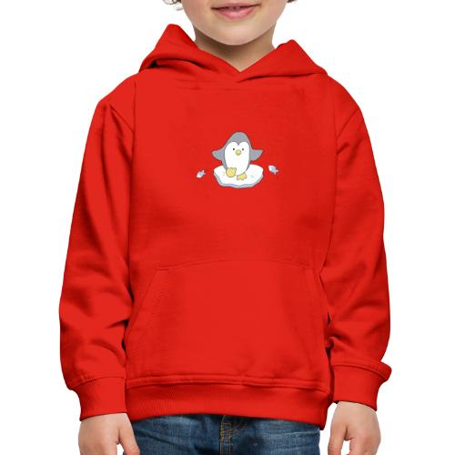 Penguin and fish - Kids' Premium Hoodie