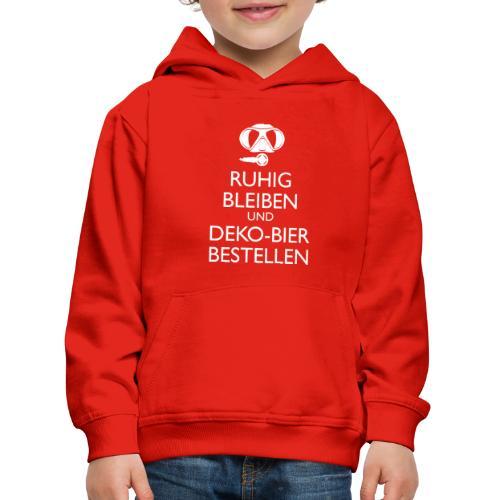 Ruhig bleiben und Deko-Bier bestellen Umhängetasc - Kinder Premium Hoodie