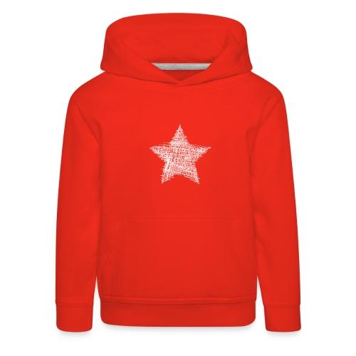 Estrella blanca - Sudadera con capucha premium niño