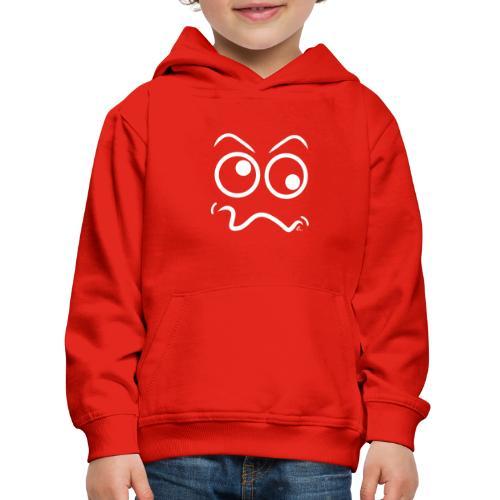 Tête marrante (blanc) - Pull à capuche Premium Enfant