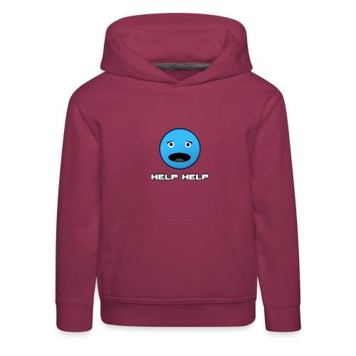 Shirt Help Help - Kinderen trui Premium met capuchon