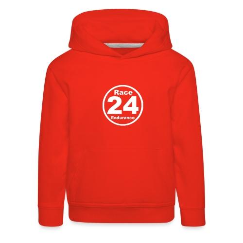 Race24 round logo white - Kids' Premium Hoodie