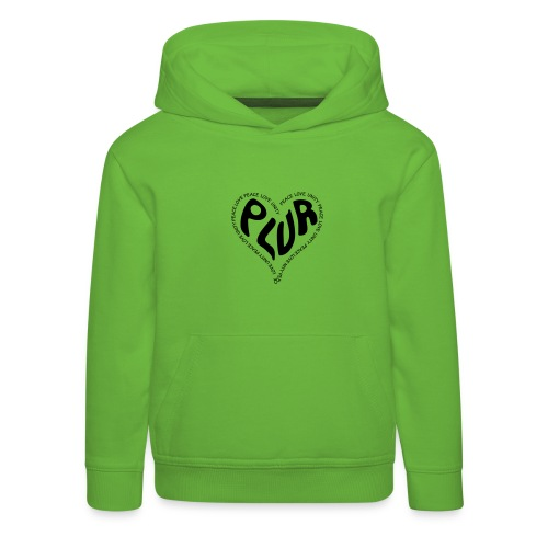 PLUR Peace Love Unity & Respect ravers mantra in a - Kids' Premium Hoodie