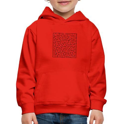 SQUARE MAZE - Kids' Premium Hoodie