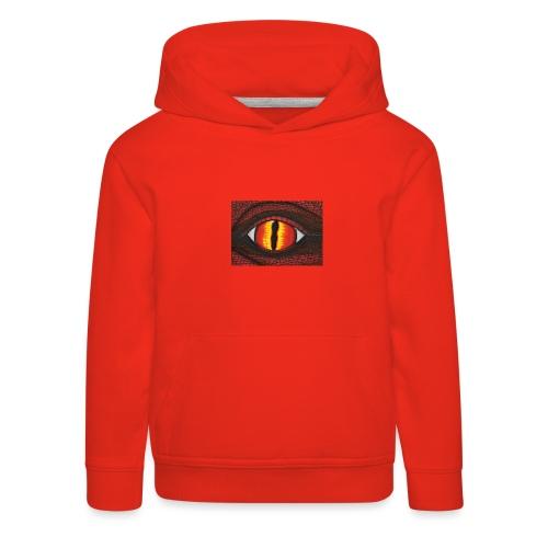 rotes Drachenauge - Kinder Premium Hoodie