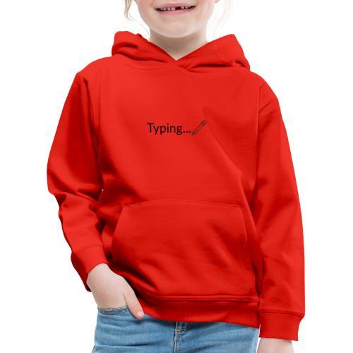 Typing - Sudadera con capucha premium niño
